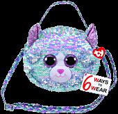 Beanie Boos - Whimsy the Blue Cat Flippable Handbag