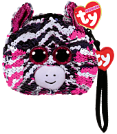 "Beanie Boos - Zoey the Zebra 5"" Flippable Coin Purse"