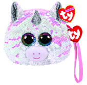 "Beanie Boos - Diamond the Unicorn 5"" Flippable Coin Purse"