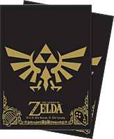 The Legend of Zelda - Ultra Pro Black and Gold Deck Protector Sleeves (65 Count)
