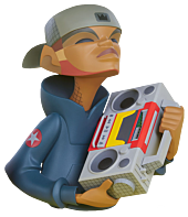 "Unruly Industries - Ghetto Blaster 7"" Vinyl Figure by kaNO"
