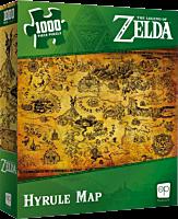 The Legend of Zelda - Hyrule Map 1000 Piece Jigsaw Puzzle