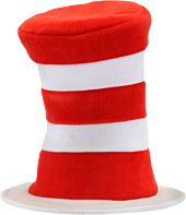 Dr Seuss - Cat in the Hat Adult Velboa Hat