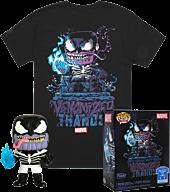 The Avengers - Venomized Thanos Glow in the Dark Funko Pop! Vinyl Figure & T-Shirt Box Set.