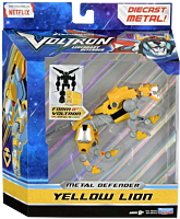 "Voltron: Legendary Defender - Metal Defender Yellow Lion Die-Cast 5"" Action Figure"