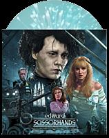 """Edward Scissorhands - Original Motion Picture Soundtrack by Danny Elfman LP Vinyl Record (""""Ice Sculpture"""" Blue w/ """"Snow"""" Splatter Coloured Vinyl)"""