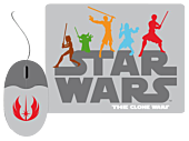 Star Wars - Clone Wars - Mouse and Mouse Pad Set (STAR29)