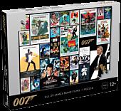 James Bond - All 25 James Bond Films 1000 Piece Jigsaw Puzzle