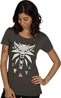 The Witcher: Wild Hunt - Signs of the Witcher Female T-Shirt Main