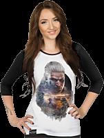 The Witcher: Wild Hunt - Geralt Female Raglan Shirt Main Image