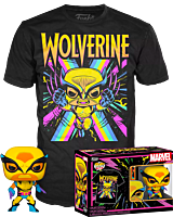 Marvel: Blacklight - Wolverine Blacklight Pop! Vinyl Figure & T-Shirt Box Set