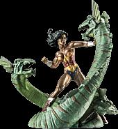 Wonder Woman - Wonder Woman vs Hydra Mini Patina Statue