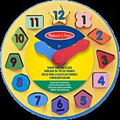 Melissa and Doug | Wooden Shape Sorting Clock | Popcultcha | Cultcha Kids