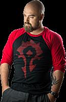 World of Warcraft - Horde 3/4 Sleeve Male Raglan Shirt Main Image Robin Ricketts