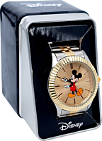 Mickey Mouse - Mickey Mouse Two-Tone Stainless Steel Watch (One Size)